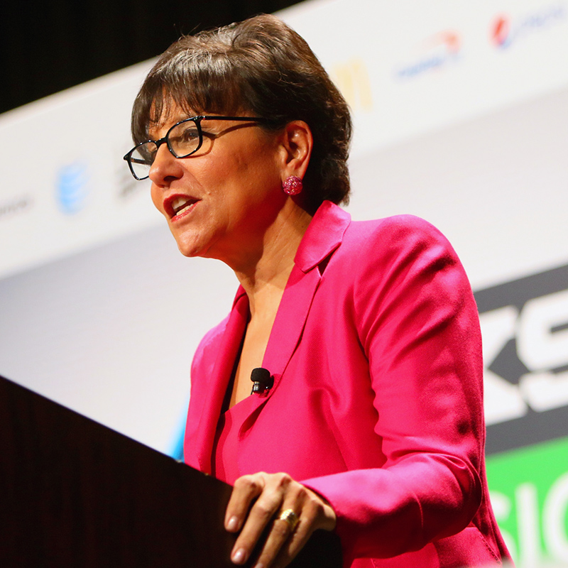 Penny Pritzker, United States Secretary of Commerce speaks onstage at 'Move Fast, Government, or Get Out of the Way' during the 2015 SXSW Music, Film + Interactive Festival at Austin Convention Center on March 13, 2015 in Austin, Texas. (Photo by James Goulden Photography/Getty Images for SXSW)