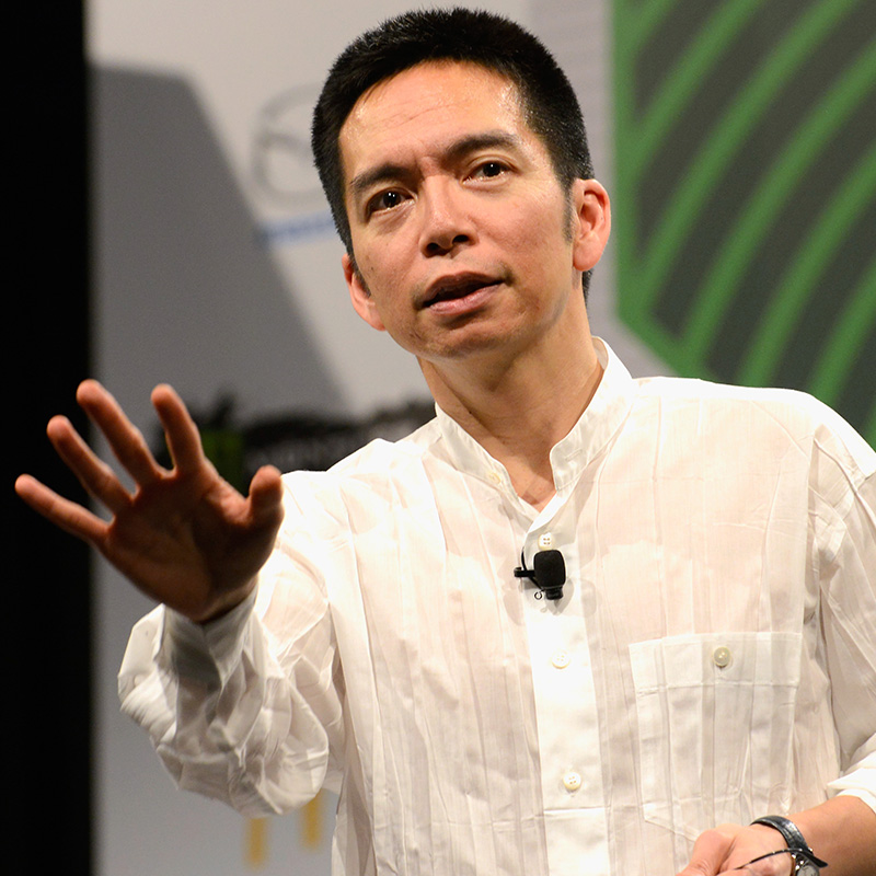 Graphic designer John Maeda speaks onstage at 'John Maeda: Design And Technology Trends Report' during the 2015 SXSW Music, Film + Interactive Festival at the Austin Convention Center on March 15, 2015 in Austin, Texas. (Photo by Robert A Tobiansky/Getty Images for SXSW)