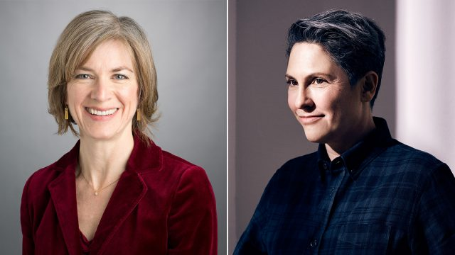 Jennifer Doudna and Jill Soloway - SXSW 2017 Conference Keynotes. Photos courtesy speakers.