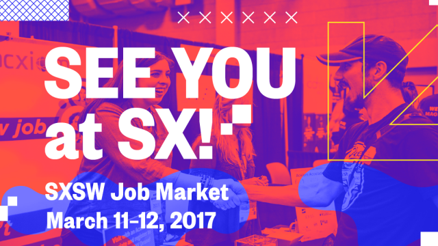 See You at SX! Job Market Facebook