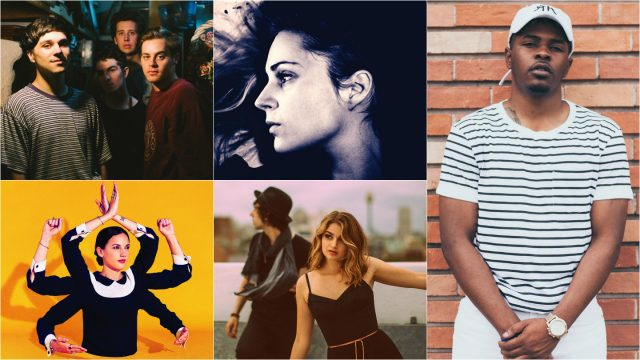 Photos, clockwise from top left: Hoops, Agnes Obel, Rocky Banks, Polarheart, Jain