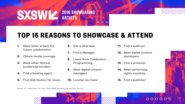 Why Artists Attend SXSW