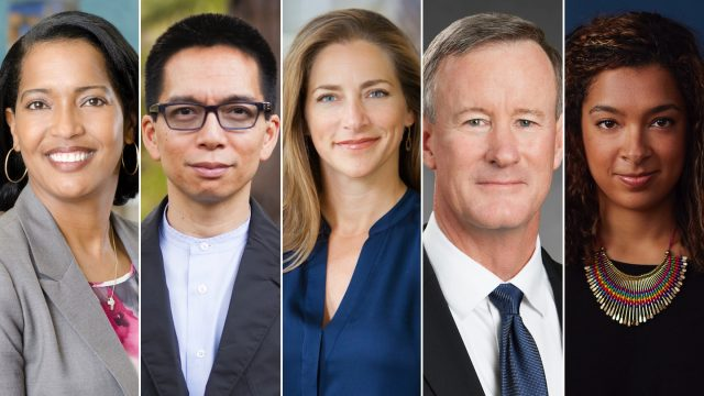 SXSWedu 2017 speakers Jahana Hayes, John Maeda, Rachel Goslins, William McRaven & Laura Weidman Powers.