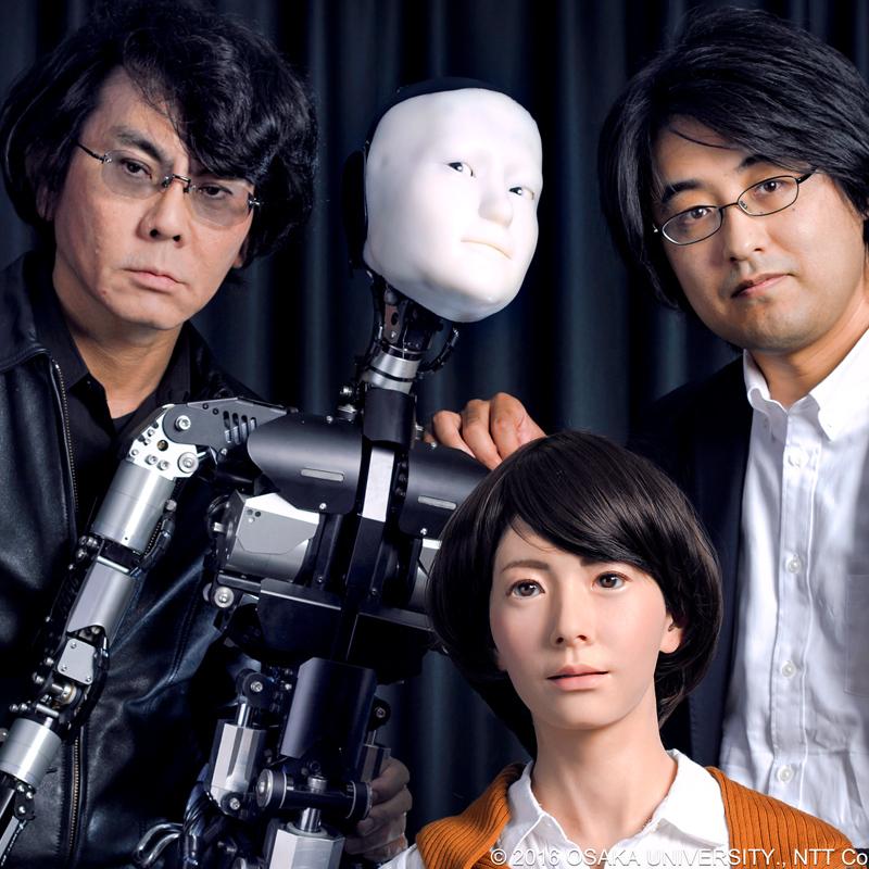 Dr. Ryuichiro Higashinaka and Hiroshi Ishiguro