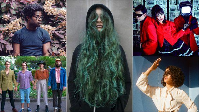 2017 Showcasing Artists clockwise from top left: R.LUM.R, Au/Ra, Satellite Young, Kadhja Bonet, Big Thief