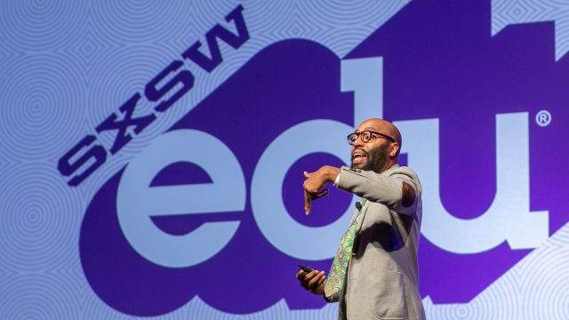 SXSWedu 2017 Keynote speaker, Christopher Emdin, photo by David Zacek.