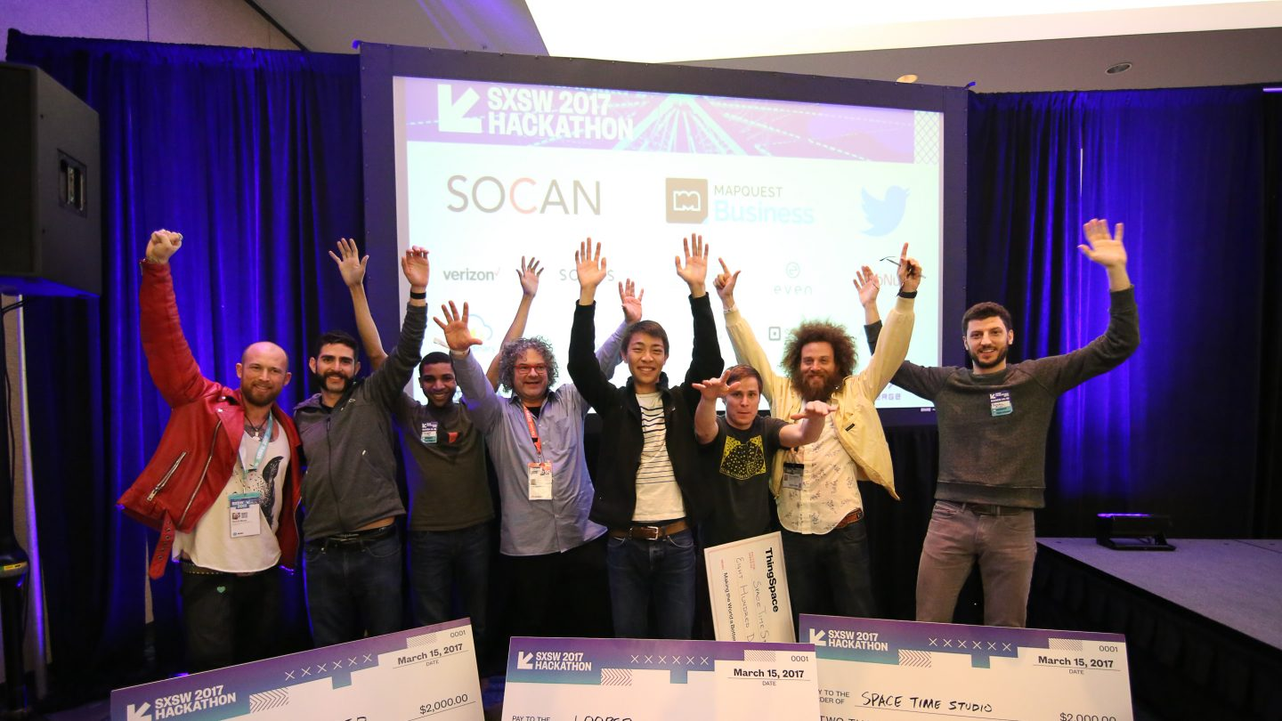 The winning teams of the SXSW Hackathon in 2017