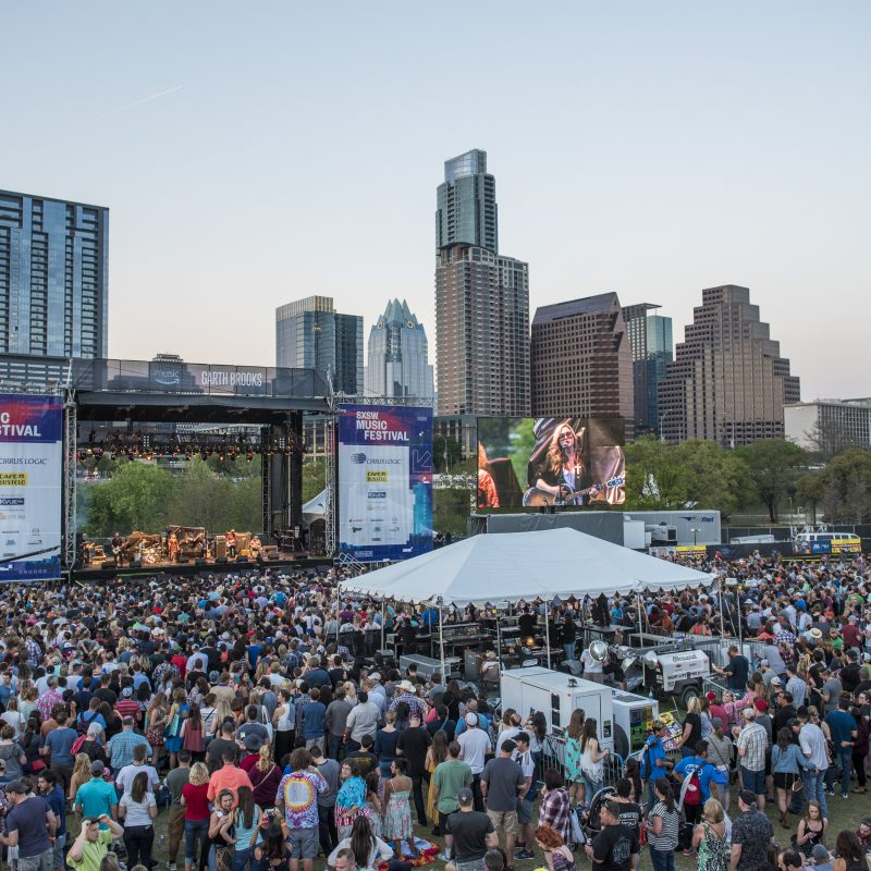 Lady Bird Lake Outdoor stage at 2018 SXSW Music Festival | Photo by Merrick Ales