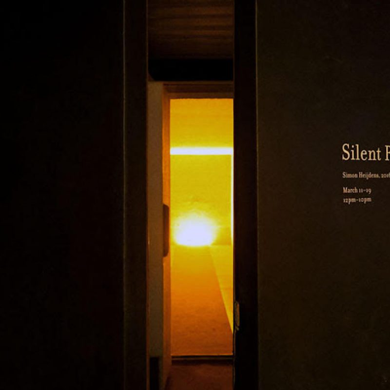 Silent Room by Simon Heijdens - Photo courtesy of the artist
