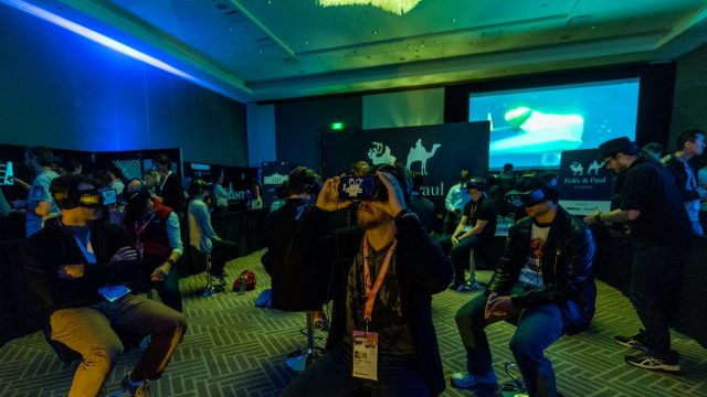 People experience the latest in VR at the Virtual Cinema at SXSW 2017