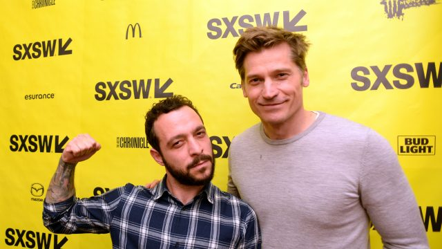 AUSTIN, TX - MARCH 11: Director Evan Katz (L) and actor Nikolaj Coster-Waldau attend the premiere of