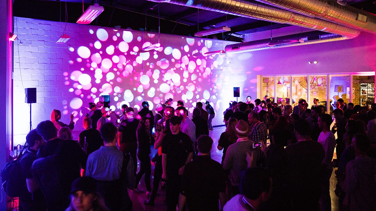 Interactive Opening Party – Photo by Nicky Lockman
