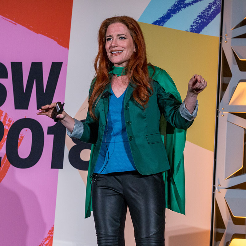 Ingrid Vanderveldt Empowering a Billion Women With $1B in Capital by 2020 session SXSW 2018 - Photo by Jeremiah Dearinger
