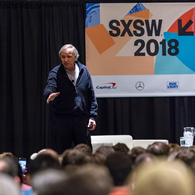 Ray Dalio How to Build a Company Where the Best Ideas Win Out session SXSW 2018 - Photo by Jon Currie