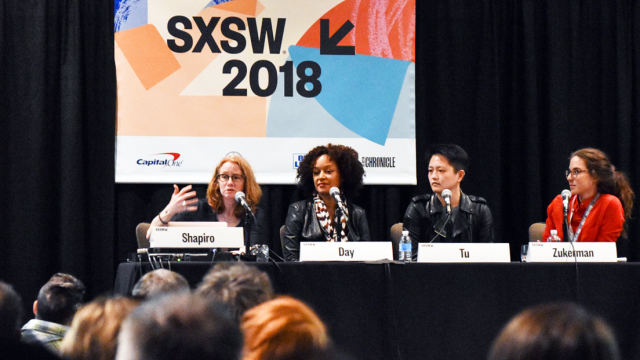2018 SXSW Session, What Podcasts Eat for Dinner – Photo by Jessica Joseph