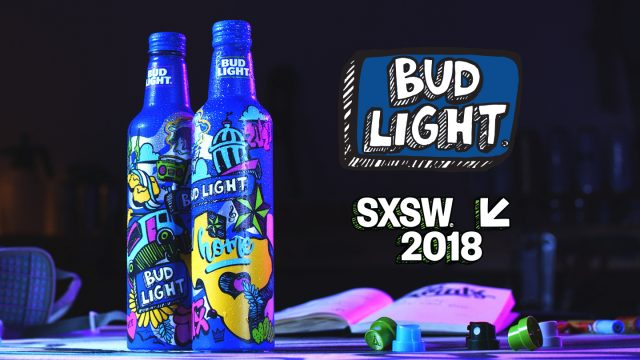 Bud Light bottles SXSW 2018