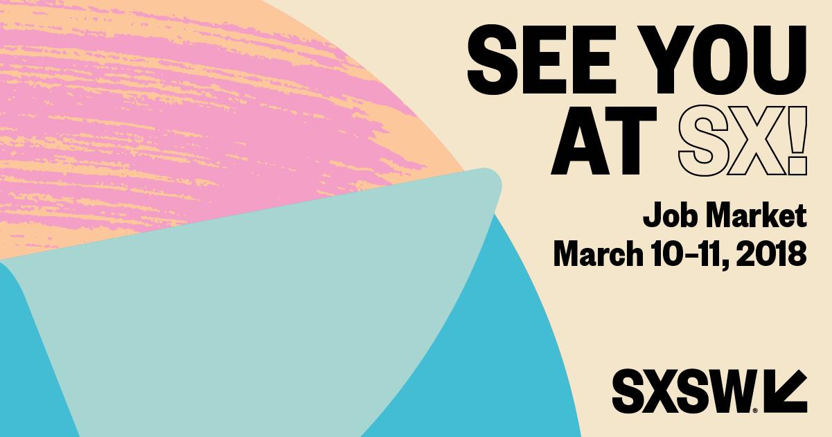 See You at SX! Job Market Facebook