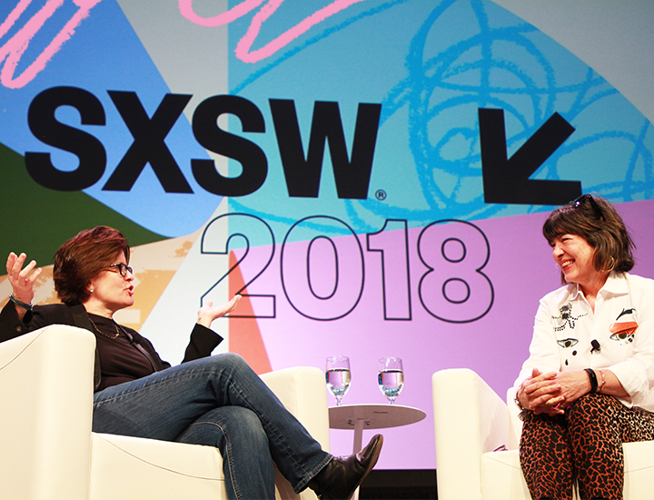 Christiane Amanpour & Kara Swisher – Photo by Kaylin Balderrama