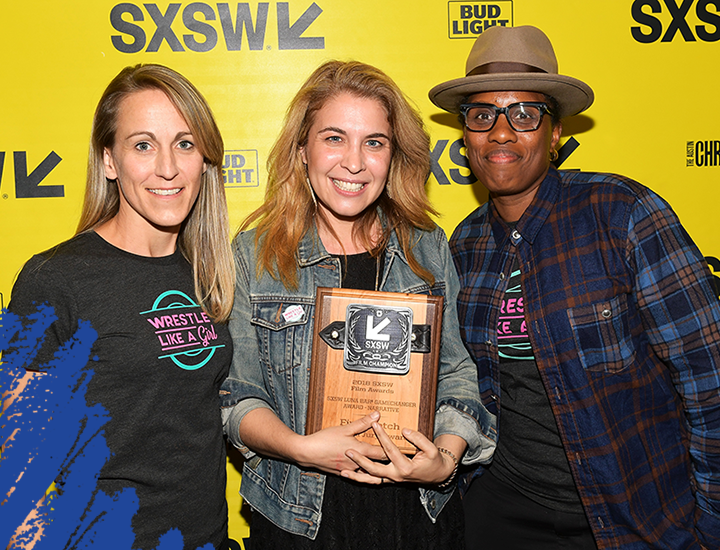SXSW Luna Bar Gamechanger 'Narrative' Award for First Watch Veronica Nickel, Olivia Newman, Chanelle Elaine attend the SXSW Film Awards Show 2018 SXSW Conference and Festivals at Paramount Theatre on March 13, 2018 in Austin, Texas. (Photo by Matt Winkelmeyer/Getty Images for SXSW)