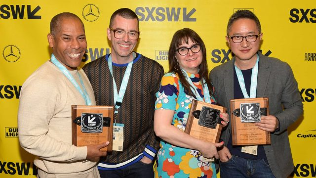 Documentary Shorts Award winners for This One's For The Ladies Gene Graham and Paul Rowley, Documentary Feature Award winner for Garry Winograng: All Things are Photographable Sasha Waters Freyer, Documentary Feature Award winner for People's Republic of Desire Hao Wu, Violet Lucca, and April Wolfe attends the SXSW Film Awards Show 2018 SXSW Conference and Festivals at Paramount Theatre on March 13, 2018 in Austin, Texas. (Photo by Matt Winkelmeyer/Getty Images for SXSW)