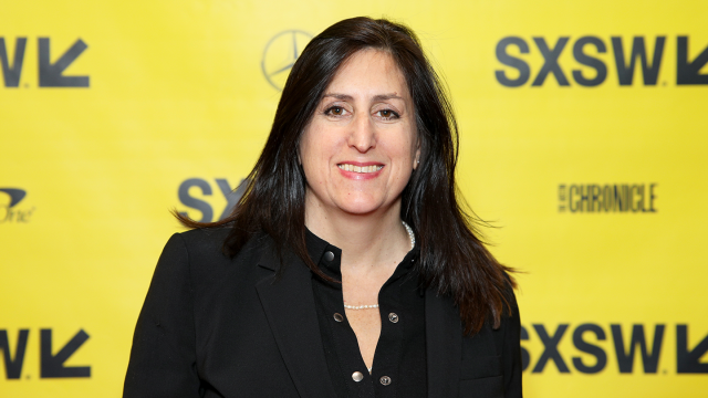 Nonny de la Pena attends the Convergence Keynote during SXSW at Austin Convention Center on March 13, 2018 in Austin, Texas. (Photo by Mike Jordan/Getty Images for SXSW)
