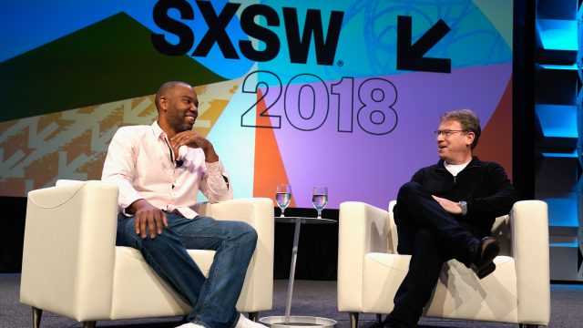 Ta-Nehisi Coates (L) and The Atlantic's Jeffrey Goldberg speak onstage at SXSW Convergence Keynote: Ta-Nehisi Coates during SXSW at Austin Convention Center on March 10, 2018 in Austin, Texas. (Photo by Ismael Quintanilla/Getty Images for SXSW)