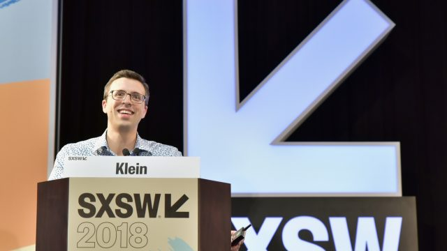 AUSTIN, TX - MARCH 09: Editor-at-large of Vox Ezra Klein speaks onstage at SXSW Featured Speaker: Ezra Klein during SXSW at Austin Convention Center on March 9, 2018 in Austin, Texas. (Photo by Chris Saucedo/Getty Images for SXSW)