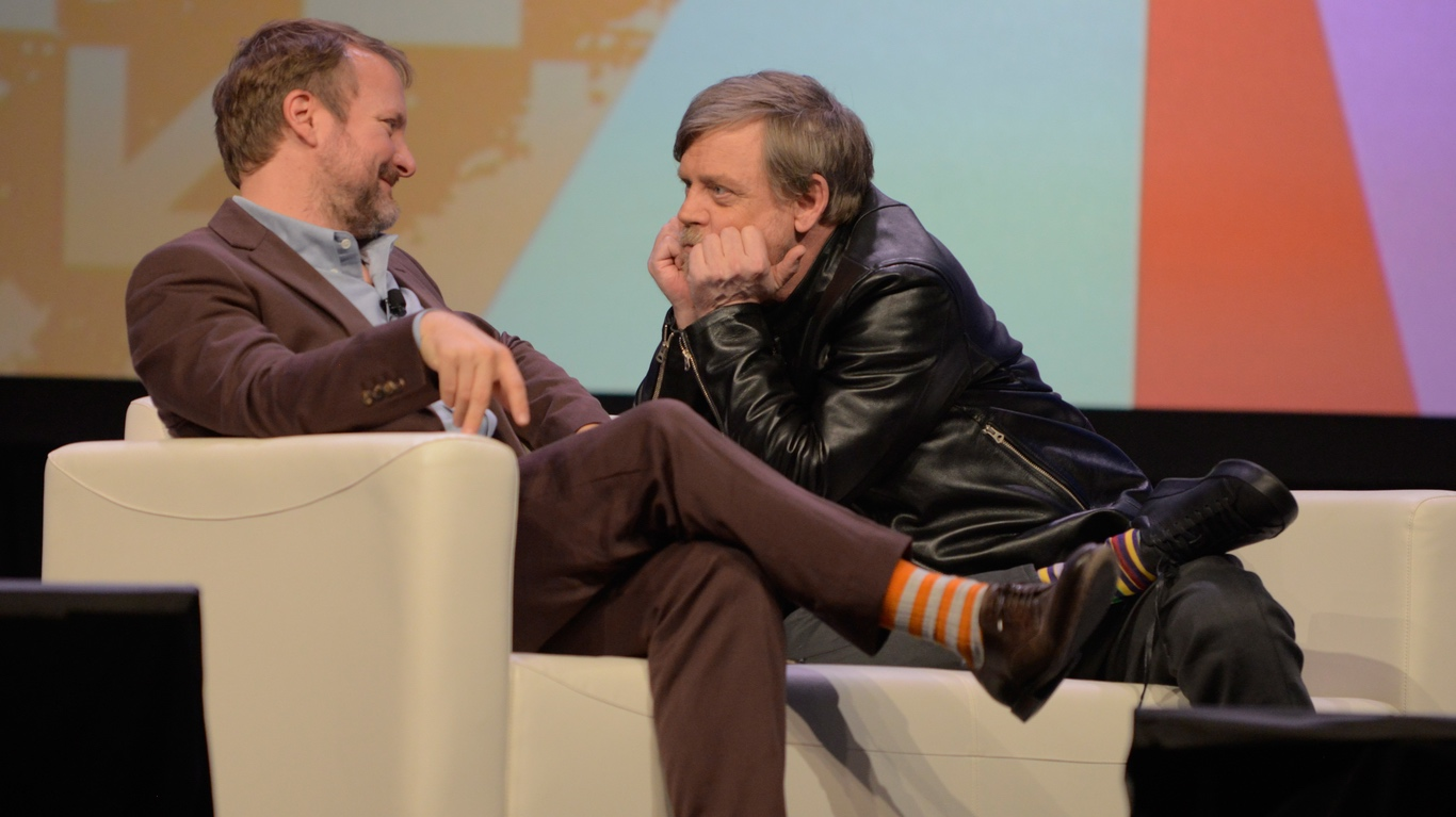 Rian Johnson and Mark Hamill at SXSW 2018 Session Journey to Star Wars - Photo by Nicola Gell/Getty Images for SXSW