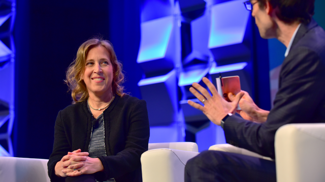 CEO of YouTube Susan Wojcicki (L) and Nicholas Thompson speak onstage at Navigating the Video Revolution in the Digital Age during SXSW on March 13, 2018 in Austin, Texas - Photo by Jason Bollenbacher/Getty Images for SXSW)