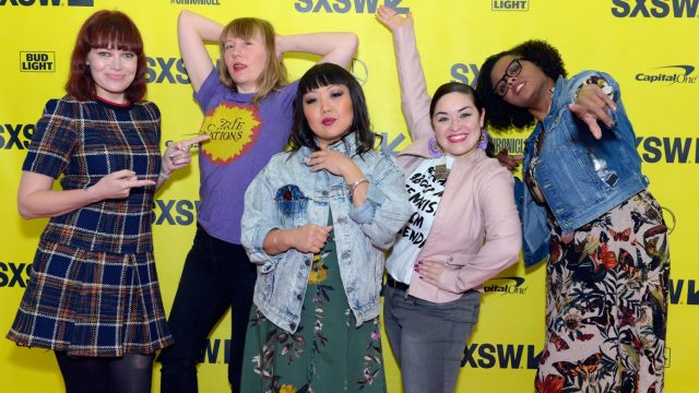 AUSTIN, TX - MARCH 11: (L-R) Alicia Malone, Amy Nicholson, Jen Yamato, Monica Castillo and Jacqueline Coley attend The Female Voices of Film Twitter during SXSW at Austin Convention Center on March 11, 2018 in Austin, Texas. (Photo by Nicola Gell/Getty Images for SXSW)