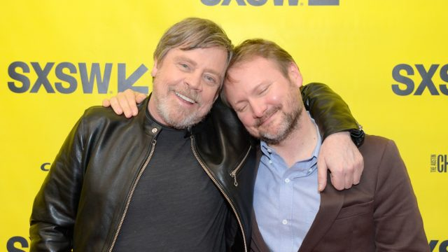 AUSTIN, TX - MARCH 12: Mark Hamill and director Rian Johnson attend the Journey to Star Wars panel during SXSW at Austin Convention Center on March 12, 2018 in Austin, Texas. (Photo by Nicola Gell/Getty Images for SXSW)