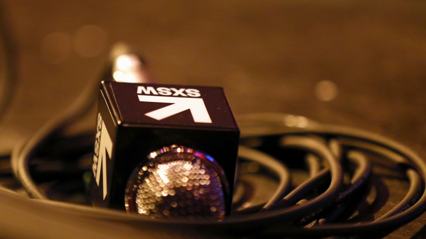 SX microphone - Photo by Diego Donamaria/Getty Images