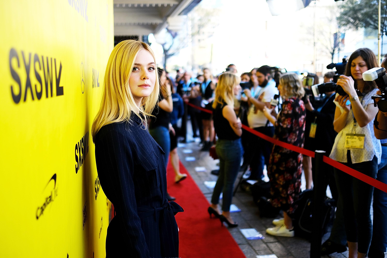 Elle Fanning at the Galveston premiere | Photo by Matt Winkelmeyer/Getty Images