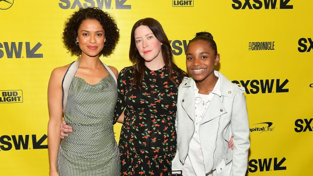 AUSTIN, TX - MARCH 10: Gugu Mbatha-Raw, Julia Hart, and Saniyya Sidney attend the