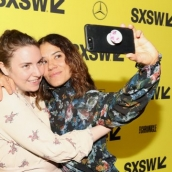 Lena Dunham and Soraya Selene  at the Half of the Picture premiere | Photo by Hutton Supancic/Getty Images