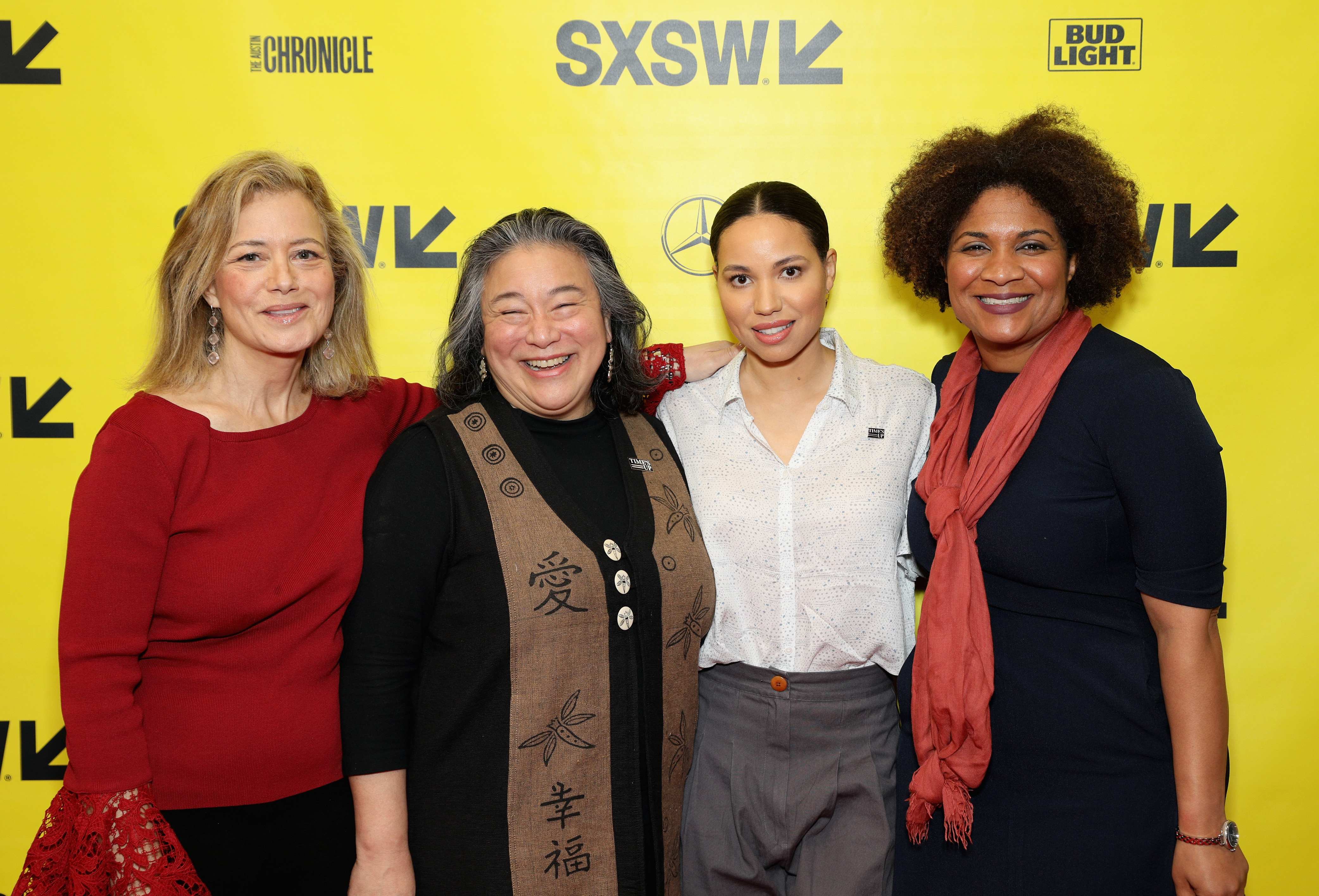 (L-R) Hilary Rosen, Tina Tchen, Jurnee Smollett-Bell and Fatima Goss Graves attend Time's Up! Shifting the Imbalance of Power during SXSW at Austin Convention Center on March 11, 2018 in Austin, Texas. (Photo by Mike Jordan/Getty Images for SXSW)