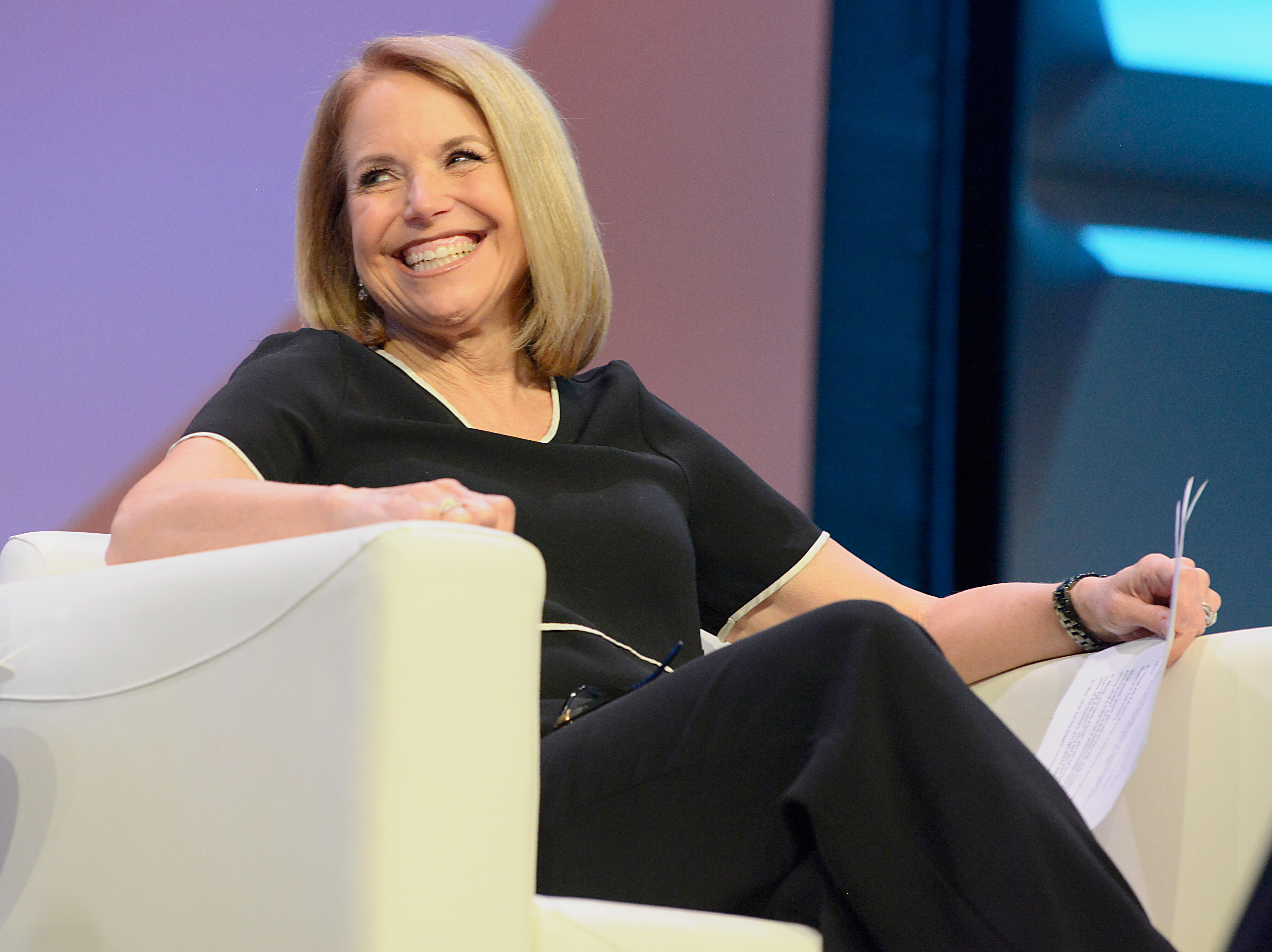 Katie Couric speaks onstage at Katie Couric podcast LIVE: The Muslim Next Door during SXSW at Austin Convention Center on March 11, 2018 in Austin, Texas. (Photo by Nicola Gell/Getty Images for SXSW)