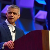 Sadiq Khan, Mayor of London speaks onstage at the SXSW Convergence Keynote during SXSW at Stateside Theater on March 12, 2018 in Austin, Texas. (Photo by Jason Bollenbacher/Getty Images for SXSW)