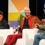 Lena Waithe, Common and Jason Mitchell speak onstage at Featured Session: The Chi during SXSW at Austin Convention Center on March 12, 2018 in Austin, Texas. (Photo by Steve Rogers Photography/Getty Images for SXSW)