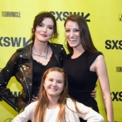 """Chelsea Edmundson, Kendal Farr and Natalie Metzger attend the premiere of """"THUNDER ROAD"""" during SXSW at Alamo Lamar on March 12, 2018 in Austin, Texas. (Photo by Dave Pedley/Getty Images for SXSW)"""