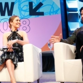 """Mandy Moore and Milo Ventimiglia speak onstage at Featured Session: The Cast of """"This Is Us"""" during SXSW at Austin Convention Center on March 13, 2018 in Austin, Texas. (Photo by Steve Rogers Photography/Getty Images for SXSW"""