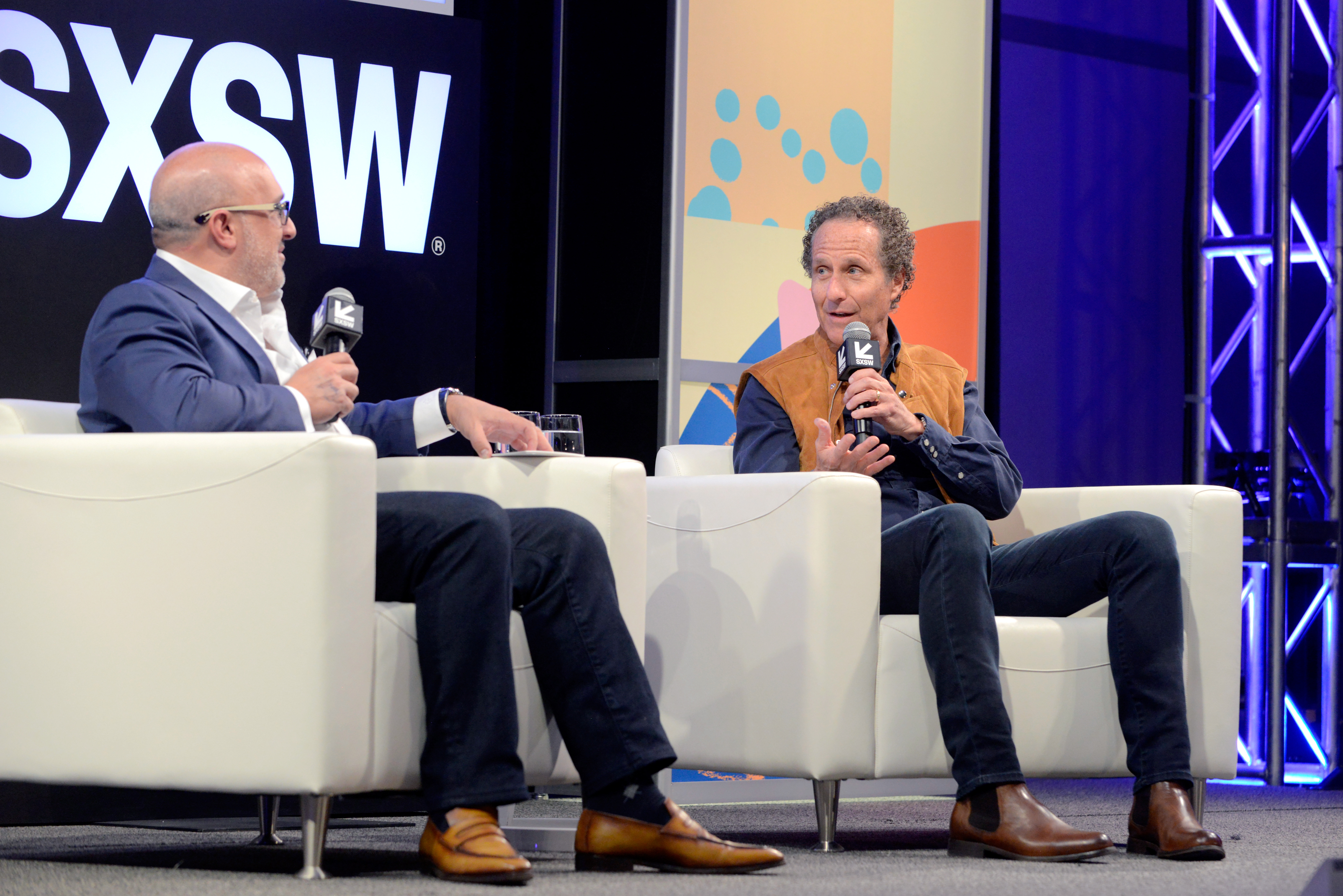 Aryeh Bourkoff and Daniel Glass speak onstage during SXSW at Austin Convention Center on March 15, 2018 in Austin, Texas. (Photo by Nicola Gell/Getty Images for SXSW