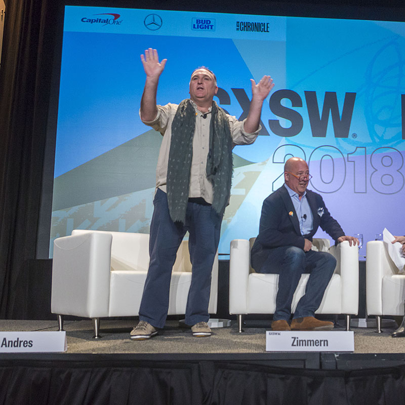 Changing The World Through Food session SXSW 2018 - Photo by Luis Bustos