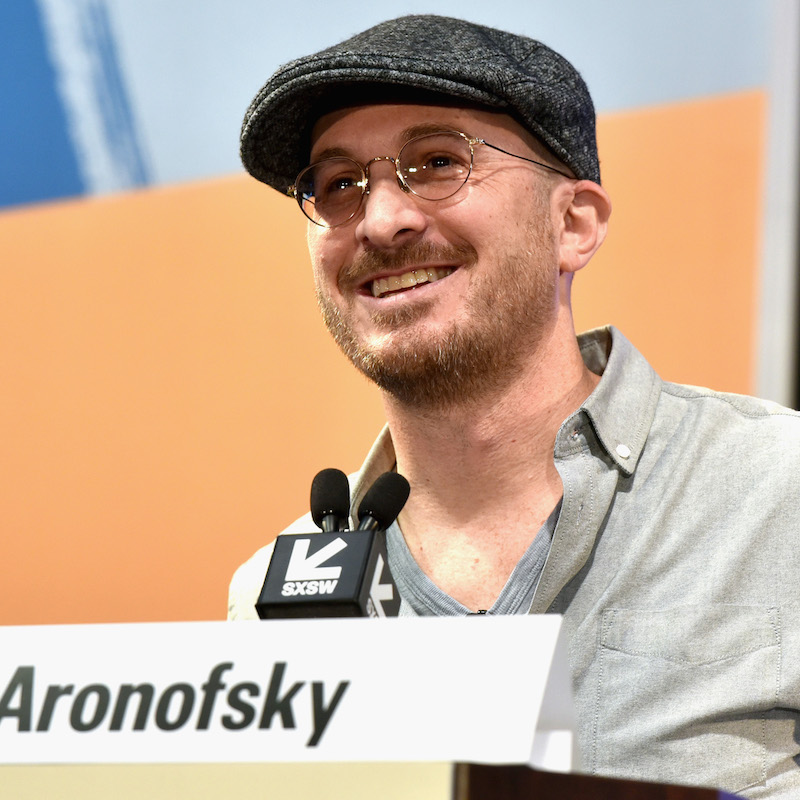 AUSTIN, TX - MARCH 10: Filmmaker Darren Aronofsky speaks onstage at SXSW Film Keynote: Darren Aronofsky during SXSW at Austin Convention Center on March 10, 2018 in Austin, Texas. (Photo by Amy E. Price/Getty Images for SXSW)