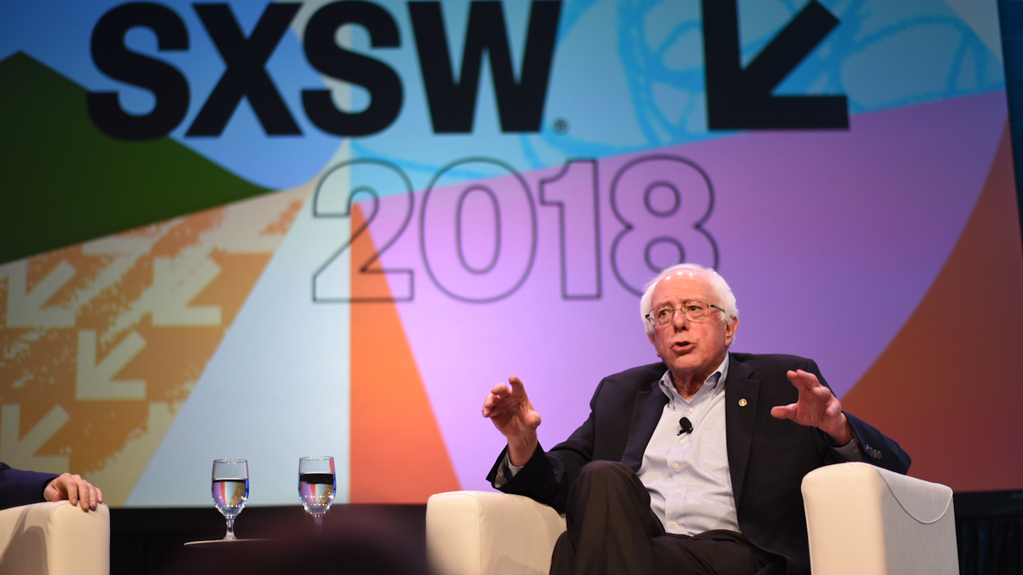 Bernie Sanders at SXSW 2018 – Photo by Renee Dominguez