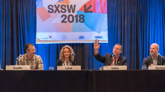 """Music Modernization Act: Changing the Licensing Landscape"" session at SXSW 2018 - Photo by Scott Paxton"