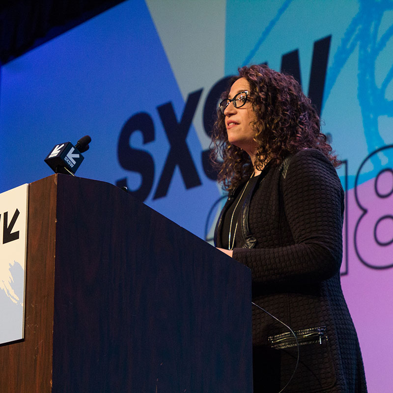 Amy Webb Emerging Tech Trends session at SXSW 2018 - Photo by Kaylin Balderrama
