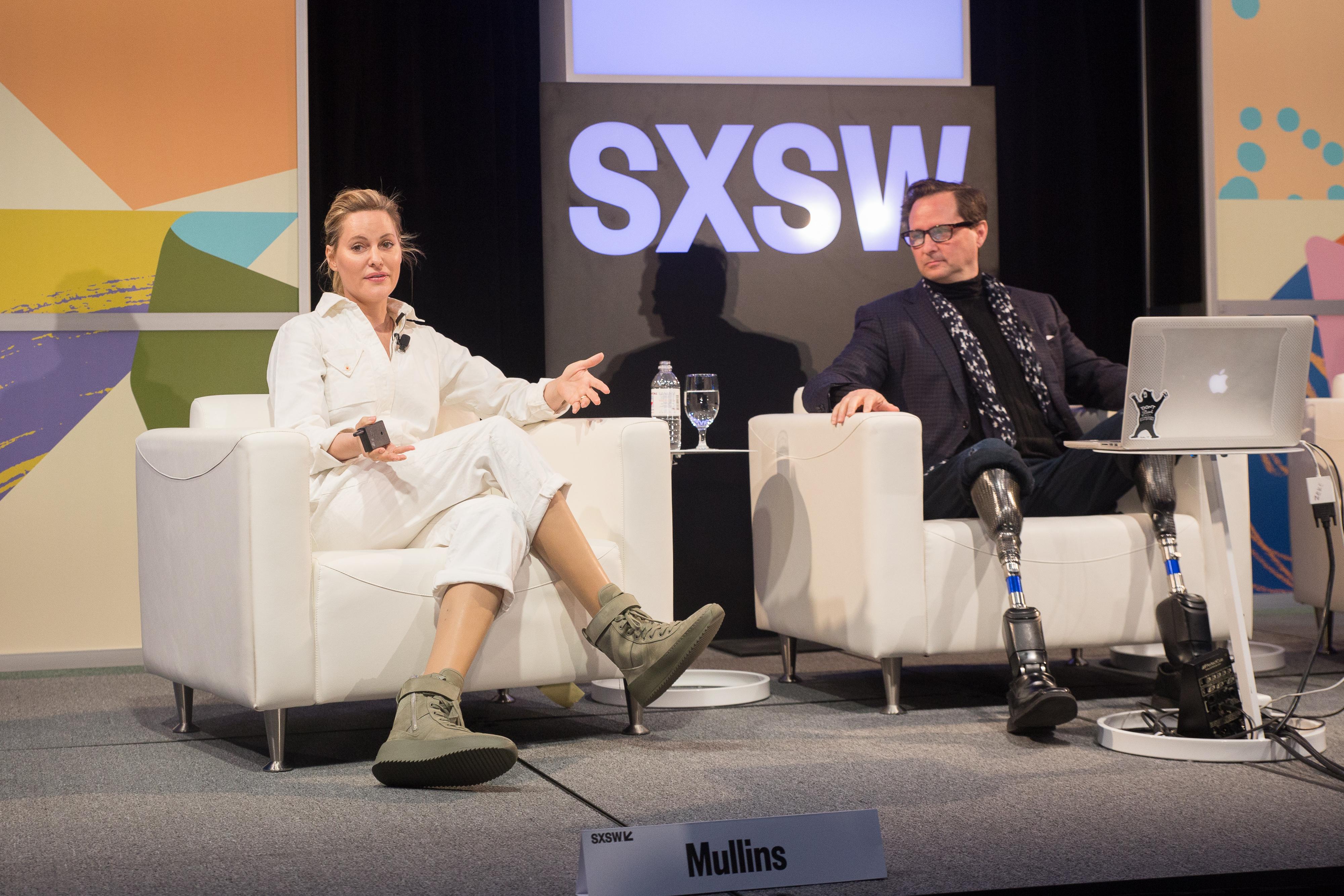 Aimee Mullins & Hugh Herr | Photo by Michael Caufield
