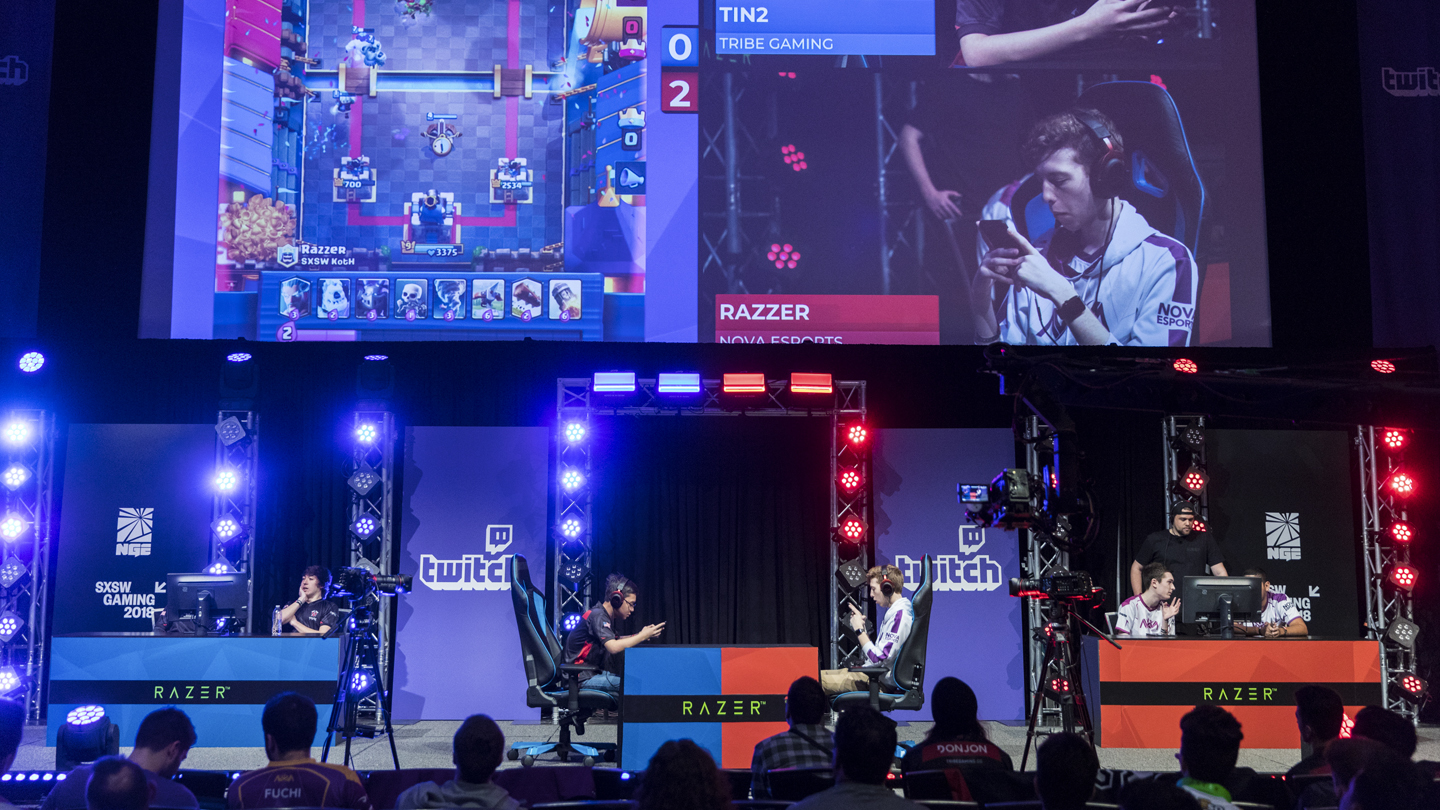 Esports Tournament Stage at SXSW Gaming 2018 - Photo by Cal Holman