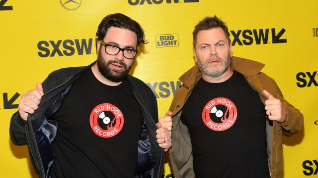 AUSTIN, TX - MARCH 14: Brett Haley and Nick Offerman attend the